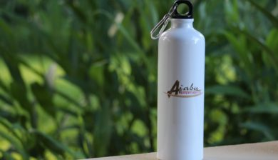 New sustainable water bottle by Ajabu Adventures