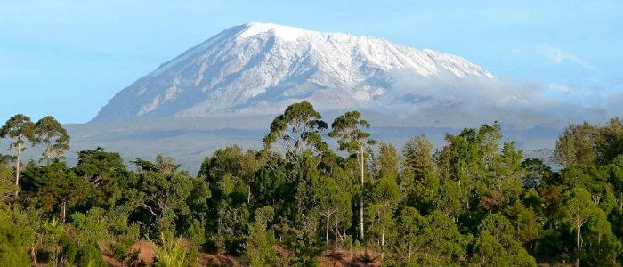 Snowcapped Mount Kilimanjaro in Tanzania